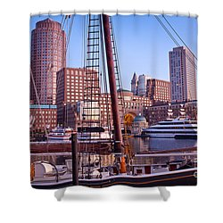 Harbor Sunrise Shower Curtain by Susan Cole Kelly