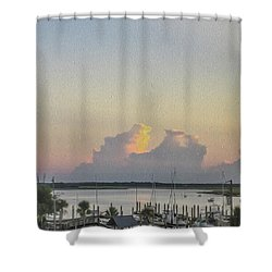 Harbor The Evening Shower Curtain