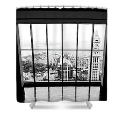 Shower Curtain featuring the photograph Harbor View by Greg Fortier