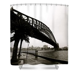 Harbour Bridge Shower Curtain by Mark Nowoslawski