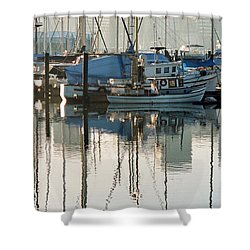 Harbour Fishboats Shower Curtain