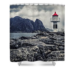 Harbour Lighthouse Shower Curtain
