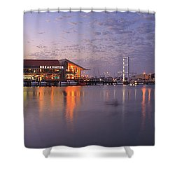Harbour Lights, Hillarys Boat Harbour Shower Curtain by Dave Catley