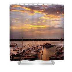 Harbour Sunsent Shower Curtain
