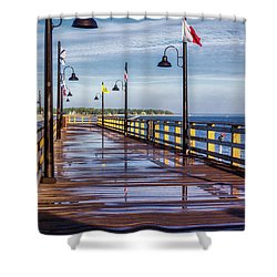 Harbour Town Pier Shower Curtain