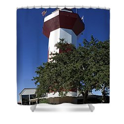 Harbourtown Lighthouse Shower Curtain by Thomas Marchessault