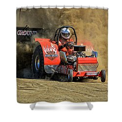 Hard Drive Pulling Tractor Shower Curtain