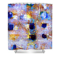 Shower Curtain featuring the painting Hard Eight by Dominic Piperata