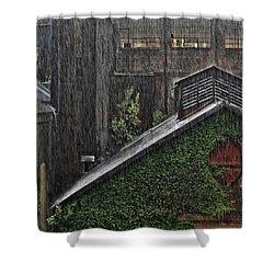 Hard Rain Shower Curtain