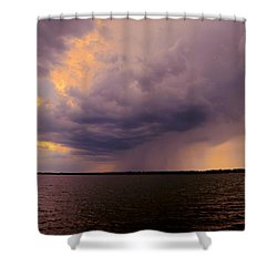 Hard Rain's Gonna Fall Shower Curtain by Lowlight Images