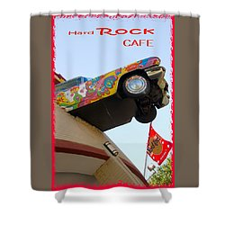 Hard Rock Cafe N Y Shower Curtain by Bob Pardue