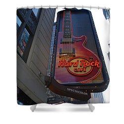 Hard Rock Cafe N Y C Shower Curtain by Rob Hans