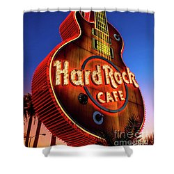 Hard Rock Hotel Guitar At Dawn Shower Curtain