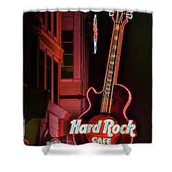 Shower Curtain featuring the photograph Hard Rock Red by Frozen in Time Fine Art Photography