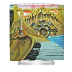 Shower Curtain featuring the painting Hard Rock by Thomas J Herring