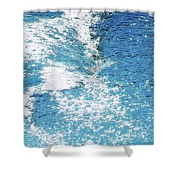 Hard Water Abstract Shower Curtain