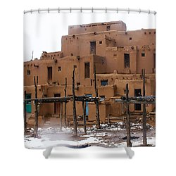 Hard Winter Shower Curtain by Terry Fiala