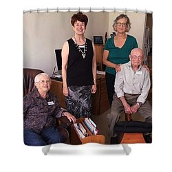 Harding School Revisited Shower Curtain