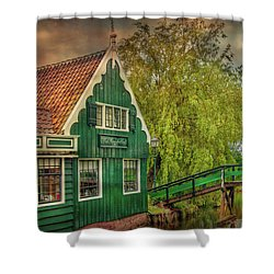 Shower Curtain featuring the photograph Haremakerij At The Brook by Hanny Heim