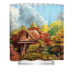 Hariet Shower Curtain by Jason Sentuf