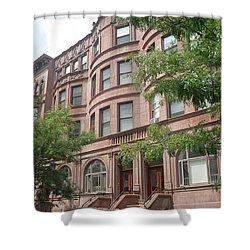 Shower Curtain featuring the photograph Harlem Brownstones by Vannetta Ferguson