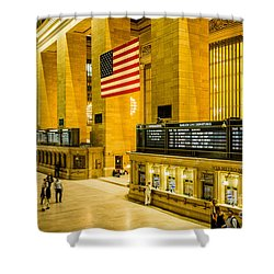 Shower Curtain featuring the photograph Grand Central Pride by M G Whittingham