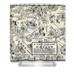 Harlem Prohibition Nightclub Map 1926 Shower Curtain