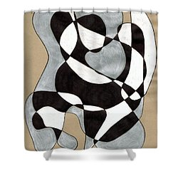 Harlequin Abtracted Shower Curtain