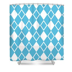 Shower Curtain featuring the digital art Harlequin Diamond Pattern - Choose Your Color by Mark E Tisdale
