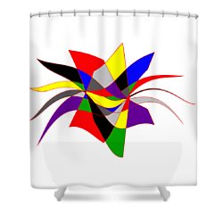 Harlequin Flower Shower Curtain