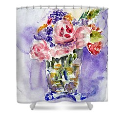 Harlequin Or Bright Side Of Life Shower Curtain by Jasna Dragun