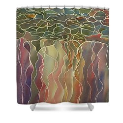 Harlequin Water Lillies Shower Curtain by Johanna Axelrod