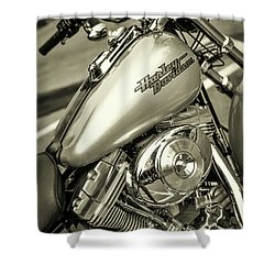 Shower Curtain featuring the photograph Harley At Bentley's by Samuel M Purvis III