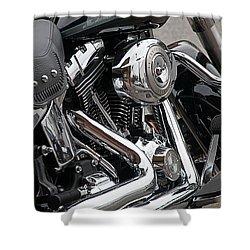 Harley Chrome Shower Curtain