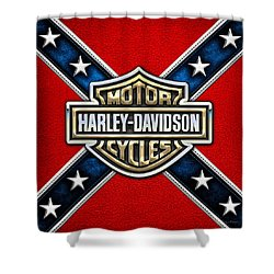 Harley-davidson - 3d Badge Shower Curtain