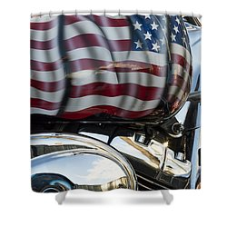 Harley Davidson 7 Shower Curtain by Wendy Wilton