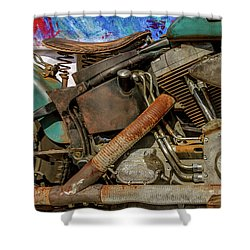 Shower Curtain featuring the photograph Harley Davidson - An American Icon by Bill Gallagher