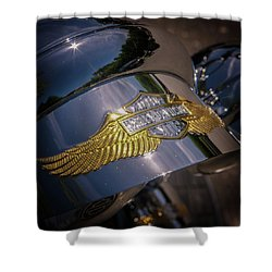 Shower Curtain featuring the photograph Harley Davidson Badge by Samuel M Purvis III