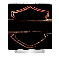 Harley Davidson  Shower Curtain by Jamie Lynn