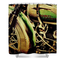 Shower Curtain featuring the photograph Harley Davidson by Joel Witmeyer
