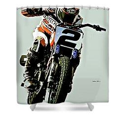 Harley Davidson Racer Number 2 Shower Curtain