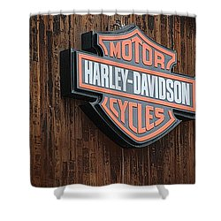Harley Davidson Sign In West Jordan Utah Photograph Shower Curtain