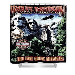 Harley Davidson The Last Great American Shower Curtain