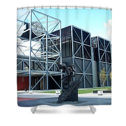 Harley Museum And Statue Shower Curtain