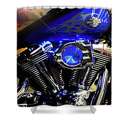 Harleys Twins Shower Curtain