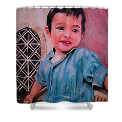 Harmain Shower Curtain by Khalid Saeed