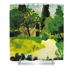 Shower Curtain featuring the painting Harmas Henri Fabre Provence Garden by Martin Stankewitz