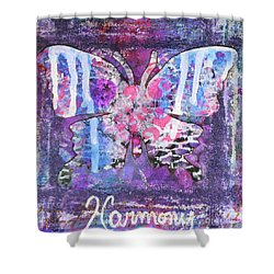 Harmony Butterfly Shower Curtain