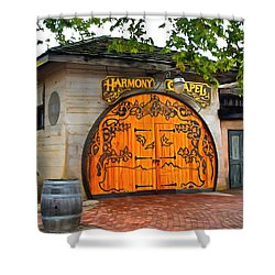 Shower Curtain featuring the photograph Harmony Chapel Harmony California by Barbara Snyder