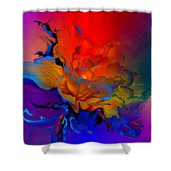 Shower Curtain featuring the painting Harmony by Hanne Lore Koehler